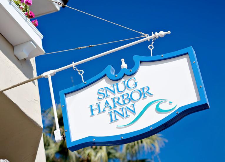 Sign of Snug Harbor Inn Catalina Island